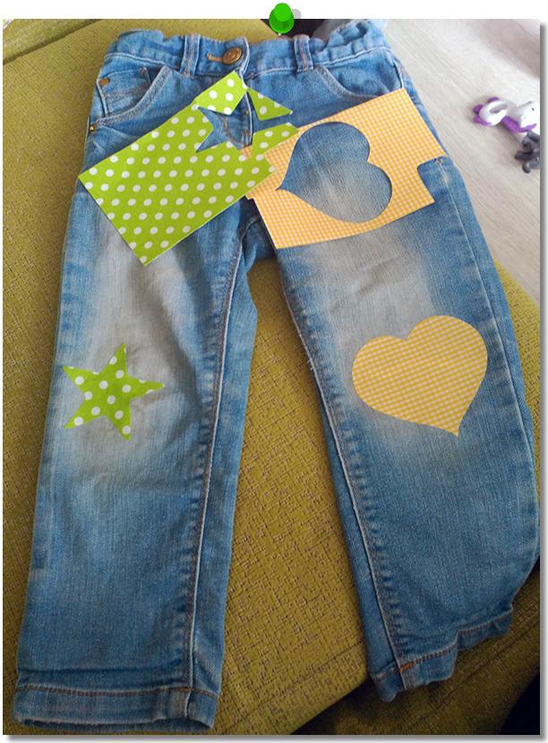 Parcheando pantalones DIY